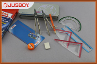 Metal box mathematical instruments for Geometry, instruments for measuring, measuring instruments