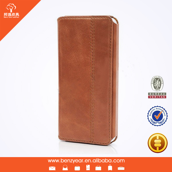 "Wholesale Top layer gunuine leather 4.7"" mobile phone case shell"