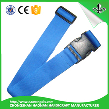 Haonan brand name polyester luggage straps with plastic strong lock