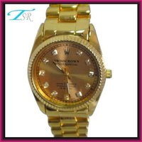 2012 fashionable name brand wholesale watches popular in Europe market Chinese movement