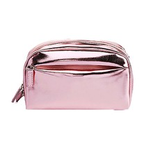 wholesale small fashion pu shiny cosmetic bag for women