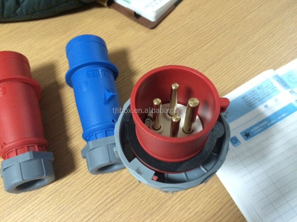 2015 Newly developed TIBOX fireproof waterproof generator plug and socket