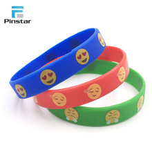 Suzhou Emoji Customized Adjustable Charm Silicone Bracelet Wristbands