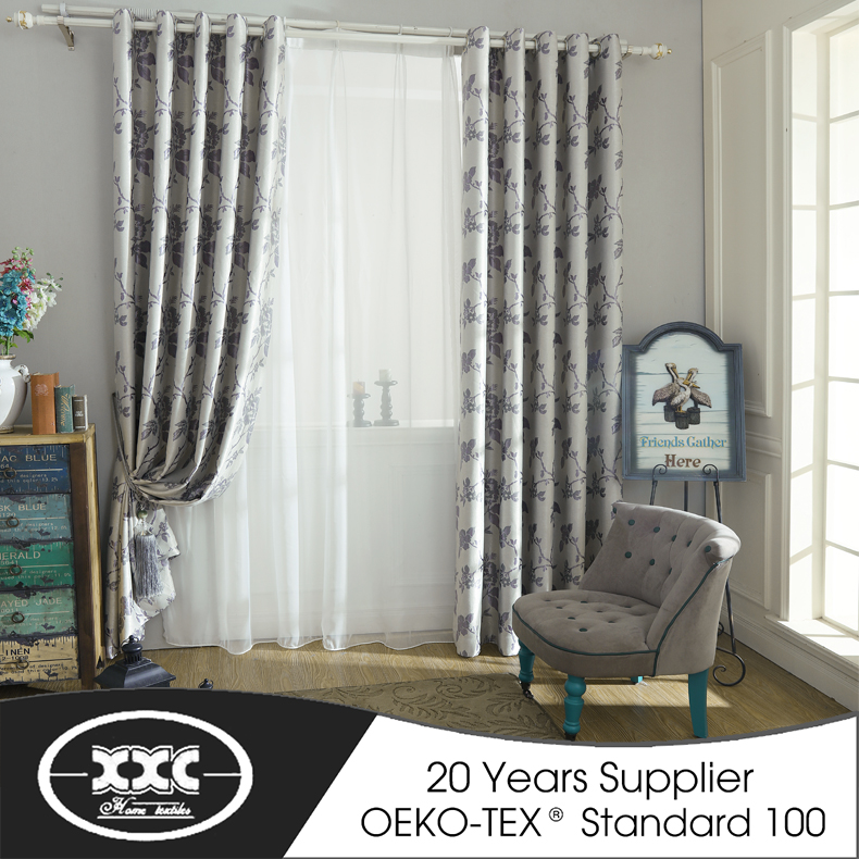 China cheap latest design living room curtains