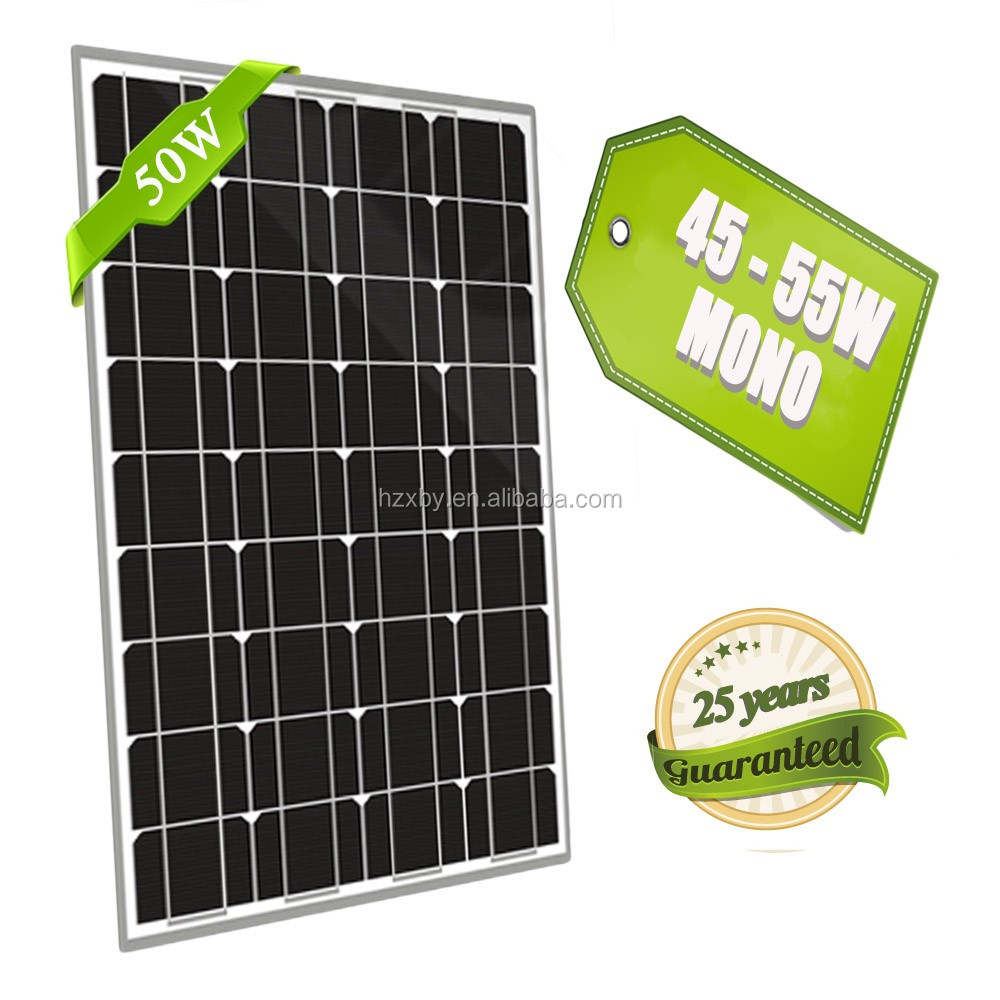 China Cheap Price Monocrystalline 50 Watt Solar Panel