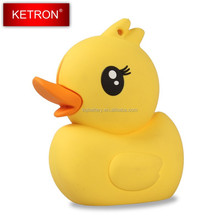 Cute Yellow Duck Design Portable Power Bank Charger