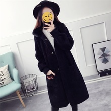 Fur-Lined Cuff Women Overcoat Sweater Wool Sweater Design For Girl Imitated Mink Wool Hooded Long Cardigan