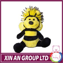 ICTI/ASTM/EN71 hot selling yellow color plush bee small toyswith wings