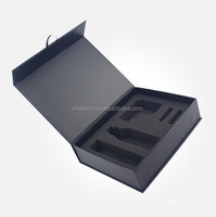 whole Fashion Custom Black Matte Cardboard Gift Box manufacture by shanghai shichao