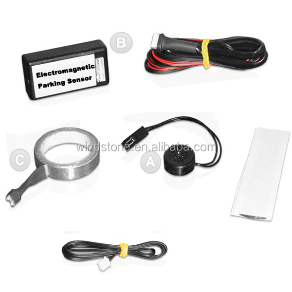 Auto Electromagnetic Parking Sensor No Holes,Easy Install,Parking Radar,Bumper guard back-up parking sensor