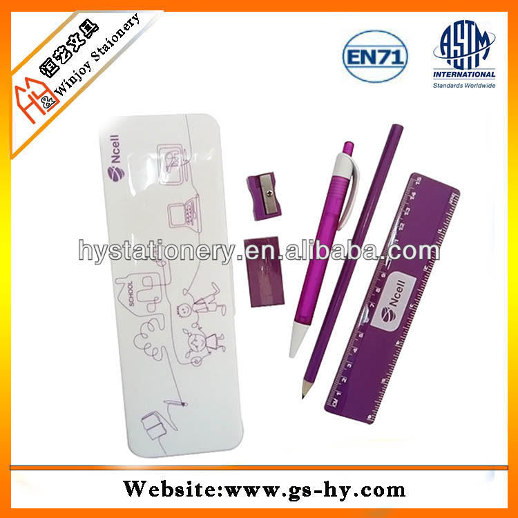Plastic pencil case stationery,plastic stationery for student