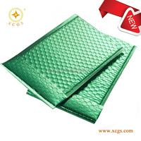 Green metallic bubble bag/air bubble envelope/ bubble padded envelopes for cosmetic