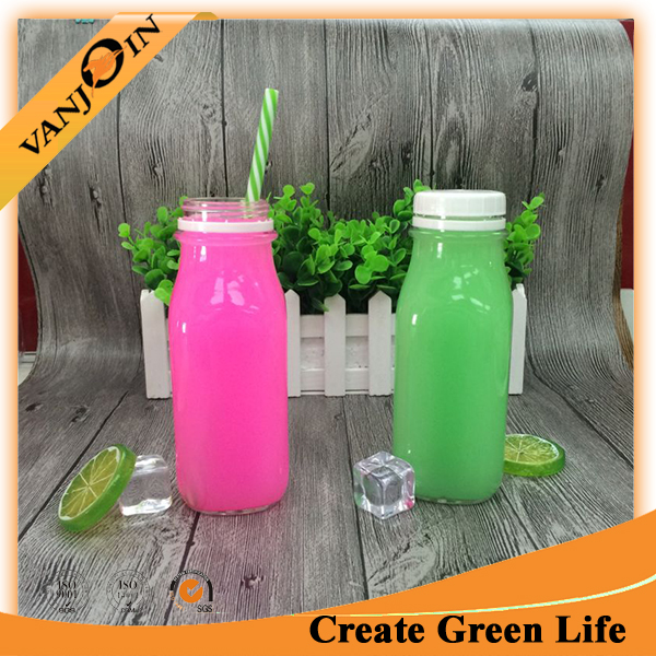 Factory 400ml Glass Drinking Bottle for Water Beverage Milk