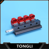 Stable cng lpg fuel Injector Rails with water cycle