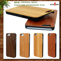 Best price black PC&natural bamboo wood Phone case for iPhone 6/6s