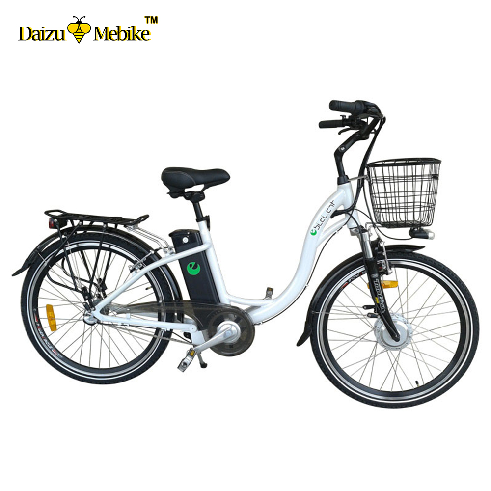 "CE Approved 2 whee adult electric bicycle 26"" 36V li-ion battery 250w brushless motor city vintage electric bike"