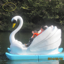 2 seats or 4 seats inflatable pedal boat/pontoon boat for factory direct sale Funny park water bike