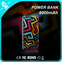 3D printing power bank 8000mah portable power bank ultra thin slim power bank