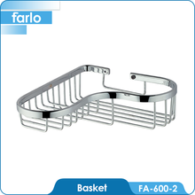 FARLO Chrome plated solid brass wire basket