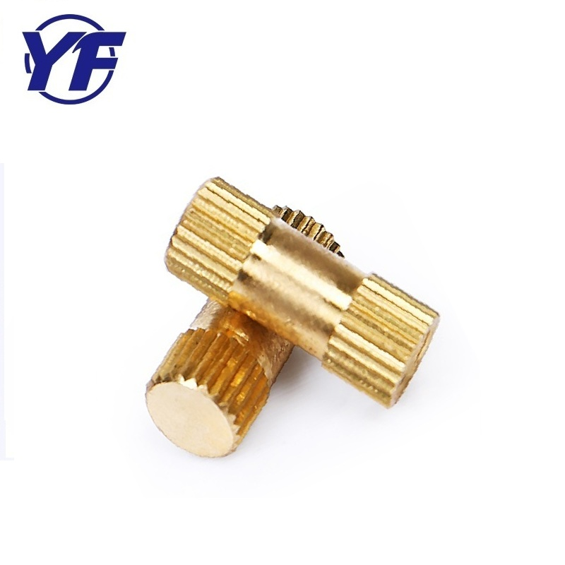 High precision knurled brass rod , nonstandard injection molding nut ,auto machine spare part