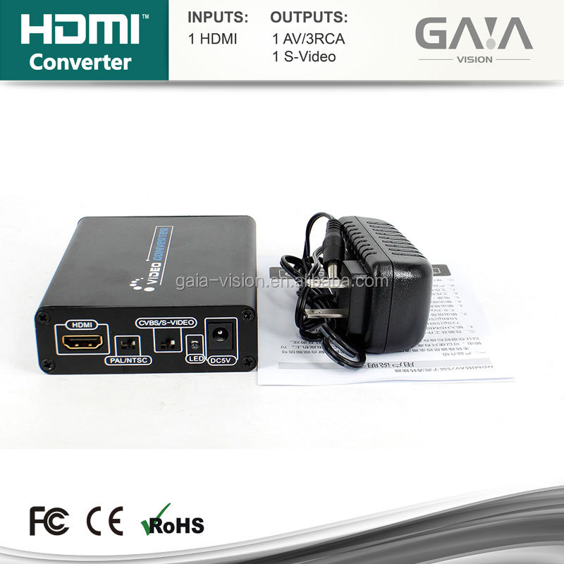 New Arrival HDMI to S-Video Adapter Full HD 1080P HDMI TO AV Converter