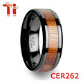 Fashion jewelry made in China wholesale, Black ceramic ring, Hawaiian koa wood ring, Tungsten ring