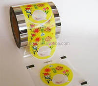 Auto Machine Use Roll Style Plastic Jelly Cup Sealing Lid Film