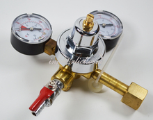 Heavy duty CO2 Regulator with two shut off valves for beer dispensing, American Style,Brewery equipment