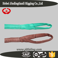 180mm width round polyester belt lifting sling 20 ton