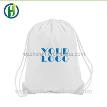 Top quality promotion custom Plain drawstring bag from china