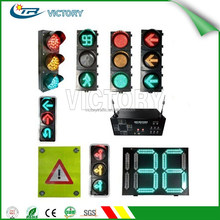 High intensity PC shell LED Solar traffic light, Road safety LED traffic signal light