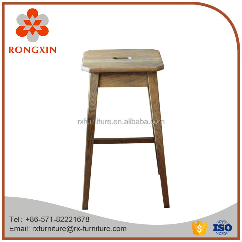 Natural solid wood bar stool bar furniture