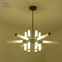 Art deco dining room led chandelier lighting lamps home modern pendant light fixtures