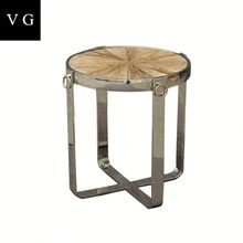 French Antique Style Living Room Blue Wooden Coffee Table