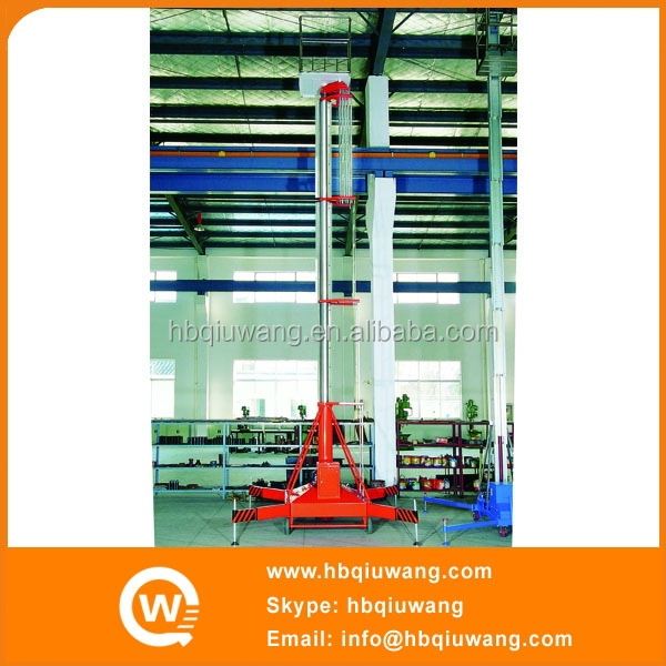 Single Ladder Metal Engraving Machinery Platform