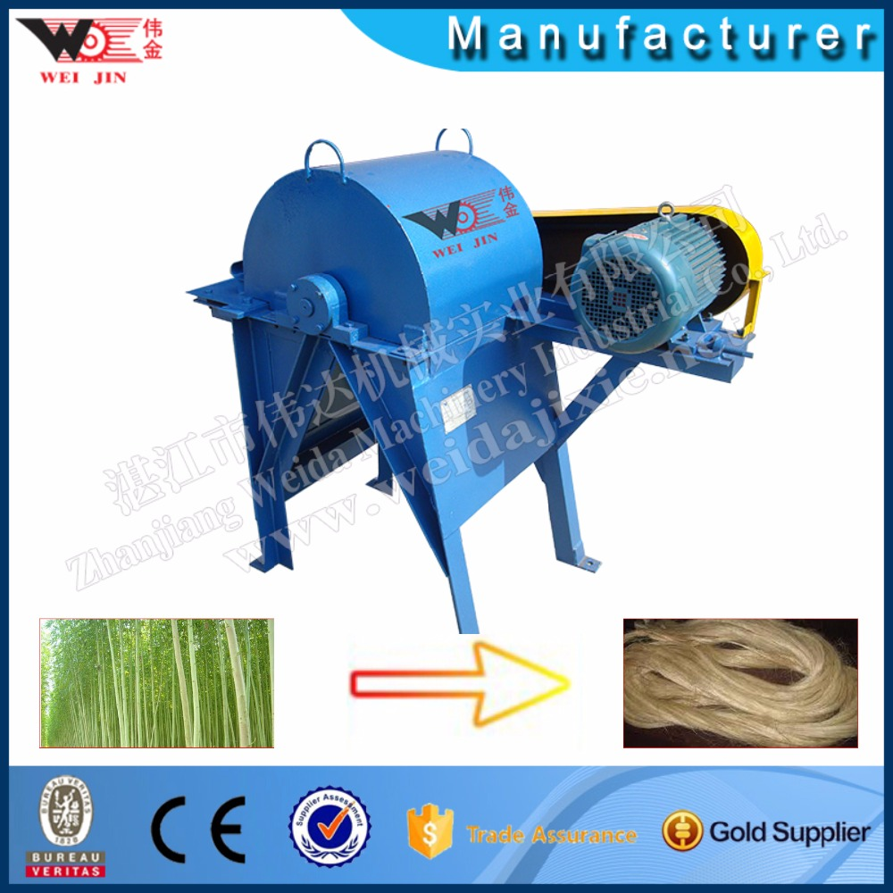India Banana Tree Stem Fibre Hemp Decorticator Machine