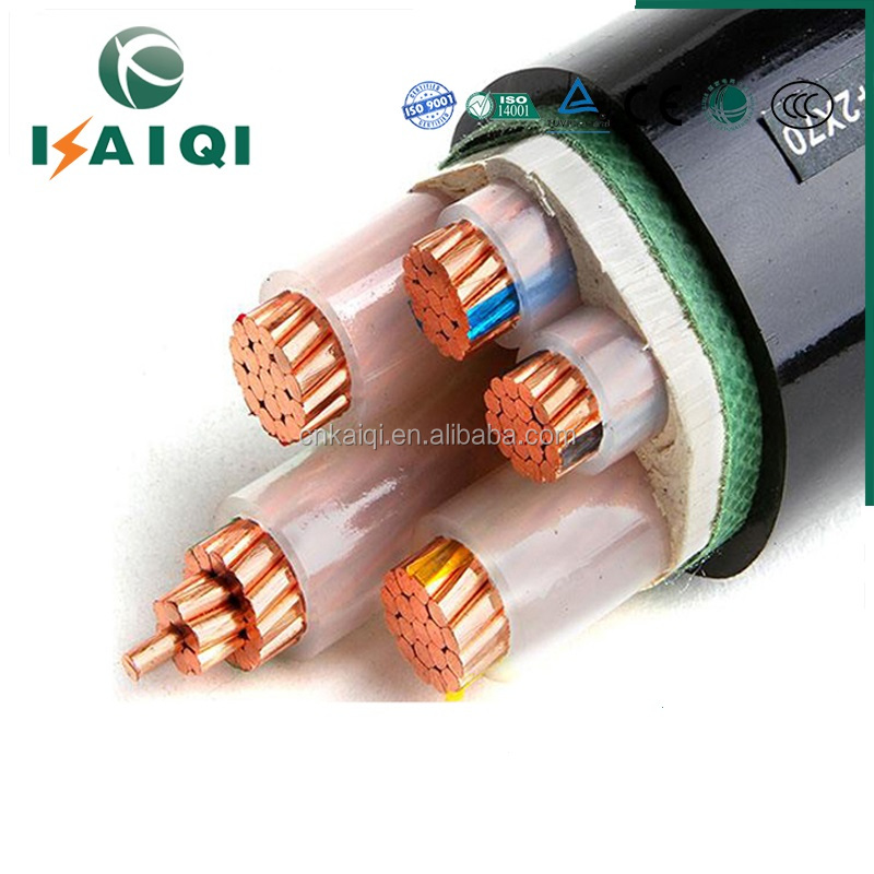 XLPE Insulated, PVC Sheathed 4 core+E Unarmored Power Cables 0.6/1kV