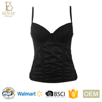 BEJ035-C embroidery satin ladies padded corset shaper for women control underwear