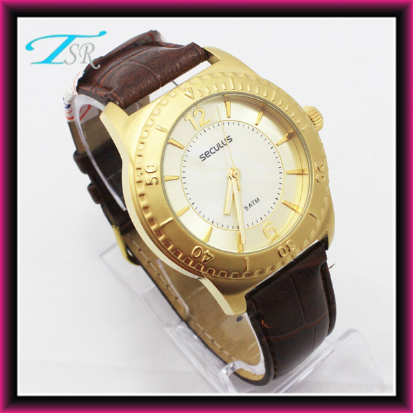 Fake gold watches with 43mm customer logo is welcome luxury for men