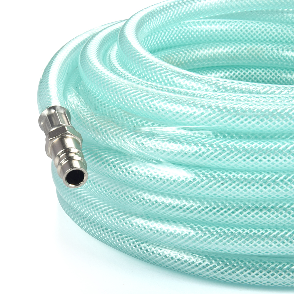 Hot selling 50ft tuinslang auto canvas pvc silicon nylon gevlochten hoge temperatuur flexibele water tuinslang