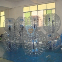 PVC sports toy inflatable human soccer bubble for kids