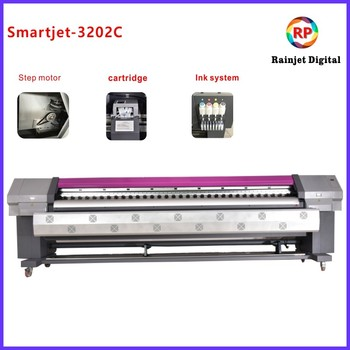 Very high speed 1440 dpi 3.2m eco solvent inkjet plotter for pvc flex banner printing machine