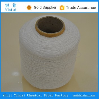 Direct manufacturer polyester knitting rubber covered yarn