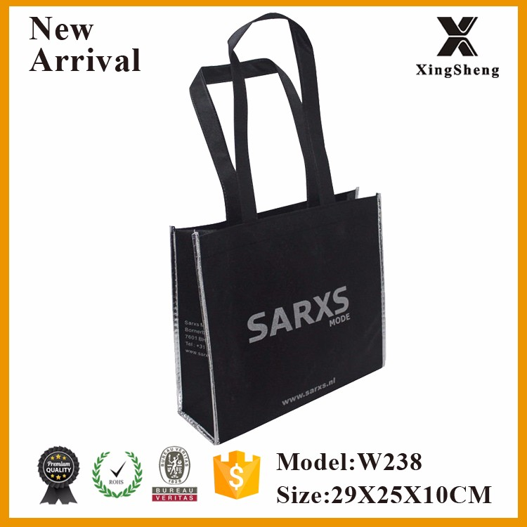 Wholesale European Netherlands Clothing shop non woven bag with custom logo