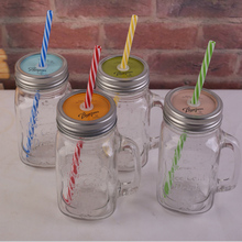 UCHOME Factory Wholesale Glass Mason Jar with Handle for Drinking