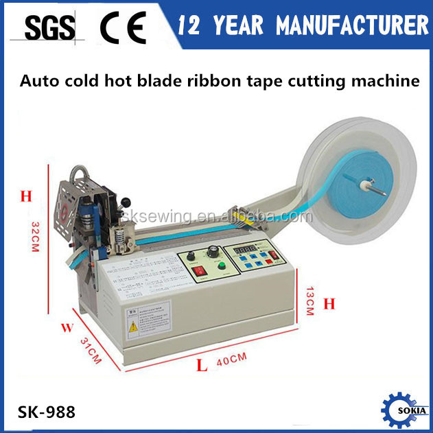 Automatic hot cutter knife nylon ribbon webbing belt Cutting Machine