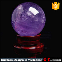 2016 craft and gifts of natural amethyst sphere, fashion purple natural stone