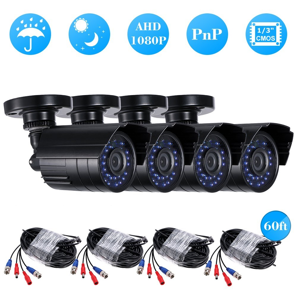 Full HD 1080P 4ch cctv camera kit ahd Security Camera System