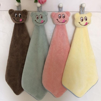 kids cute coral high quality hand towel OEM