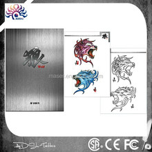 Tattoo factory supply A3 wolf images flash tattoo, cool art drawing tattoo book, new design tattoo sketch book
